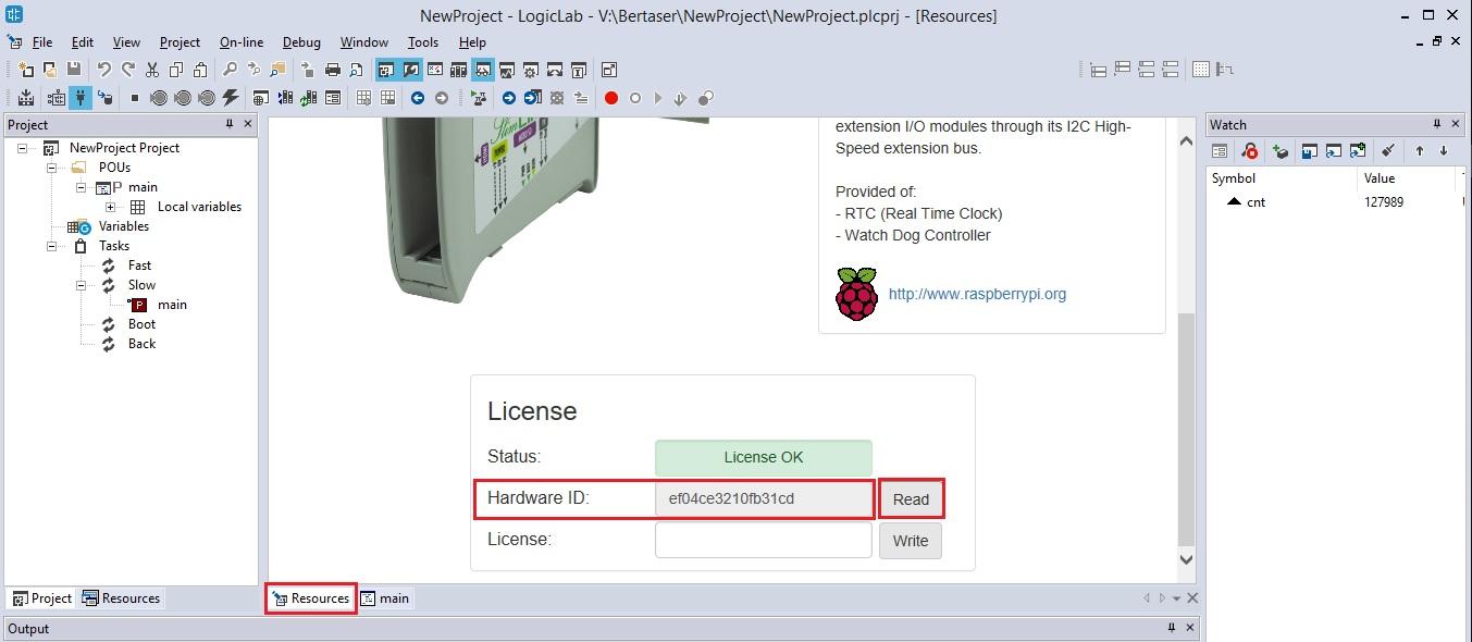 Screenshot visualizza risorse LogicLab